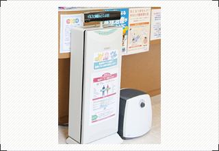 医療用大型空気殺菌脱臭装置とアロマ・マイナスイオンディフューザー